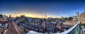 Sunset panorama in Soho London by friendlyfires