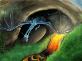 A Dragon's Cave by animalartist16