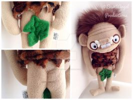 Closeup of Plush Caveman Doll Nakedness by Saint-Angel