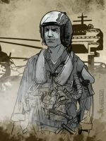 The Fighter Pilot by CartoonCaveman