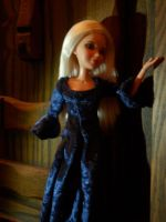Doll Medieval blue dress by kayanah