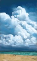 daily painting cloud study by classina