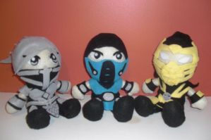 Mortal Kombat Plushies by MJDIllusion