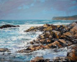 (guincho) Seascape Oil Painting by Boias