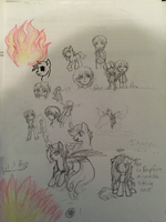 May 2014: Doodles 1 by TheRebelPhoenix