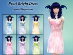 Pearl Bright Dress - TheSims4 CC by ng9