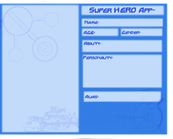 Hero Application Sheet by YourFaceLooksFunny