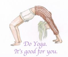 Melly Says Do Yoga by Ferngirl