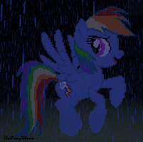 rainbow dash in minecraft by ThatPonyUknow