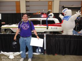 Standing In Front Of Ecto-1A by OtakuDude83
