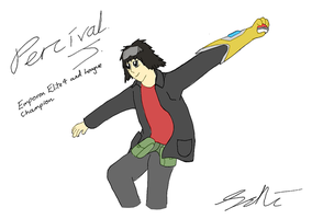 Percival J, Emporon Elite 4 and Champion by TheJakeshiEagle