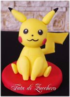 Pikachu cake topper by Dyda81