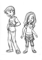 Boy and girl char. designs by tombancroft