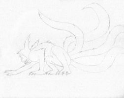 Naruto Uzumaki 4 tails sketch by concehunter01