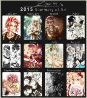 Art Summary 2015 by zippi44