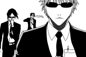 Men in black - Bleach - by CrazyCowCo
