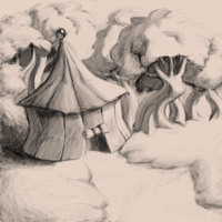 Tent... in the forest... thing by haffri