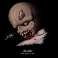 Cartoon Zombie by animefuzz