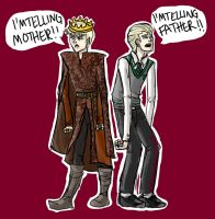 Joffrey and Malfoy by northernwatertribe