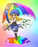 drawanime mascot contest entry by milysnow