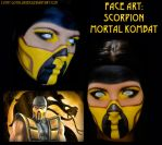 Face Art - Scorpion (Mortal Kombat) by Luthy-Lothlorien