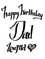 Happybday Dad by chickenmobile