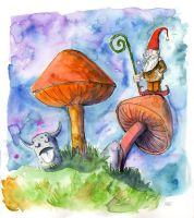 Finished Gnome on a Mushroom... by Jcoon