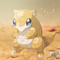 #027 - Sandshrew by C-Jean