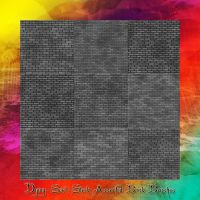 Assorted Brick Wall Brushes by dying-soul-stock