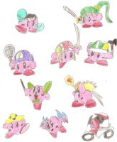Kirby Hats: Assist Trophies by BlackCarrot1129