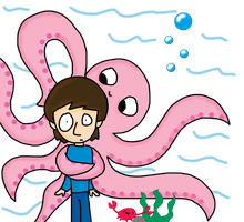 Ringo and the Octopus by beccablue8