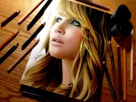 Drawing Jennifer Lawrence by Heatherrooney