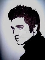 The King... Elvis Presley. by Allexaire