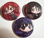 Black Butler Buttons by IcyPanther1