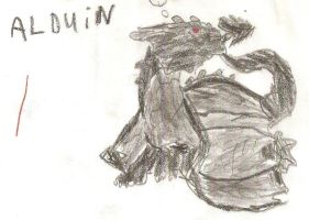 Young Alduin by SabLiath