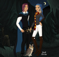 HP OC couple: Rex Aldcliff and Viorica Summerby by Bunny-Tune-94