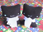 Cute black kitty twins by VioletLunchell