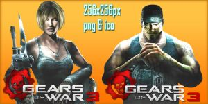 Gears of War 3 Icons by evolution99