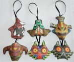 The Legend of Zelda Majora's Mask Bosses Plushies by knil-maloon