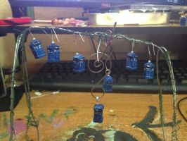 A Tree of Tardis Charms by omfgitsbutter