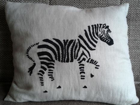 Homemade pillow with embroidery by Creative-at-home