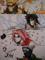 Naruto: Team 7 by JustinEugene