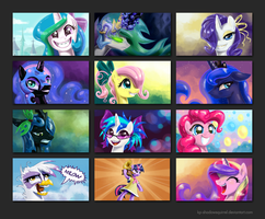MLP:FIM Portrait Wallpapers 3 by KP-ShadowSquirrel