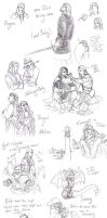 Tolkien Sketches 02 by Toradh
