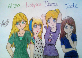 Aliza, Labyina, Dana and Jade by AidensBiggestFan
