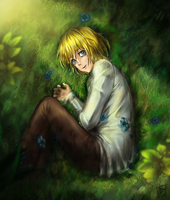 Armin on the grass by RedCorpse-Dezzer