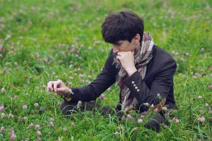 Daydreaming in the clover field - I by Angbryn