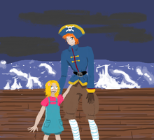 Pirate Percy and Janice by Scarygermangirl