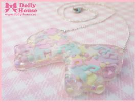 Pastel Miracle Bow Necklace by Dolly House by SweetDollyHouse