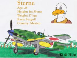 Sterne and his Ki-61 Hien by DingoPatagonico